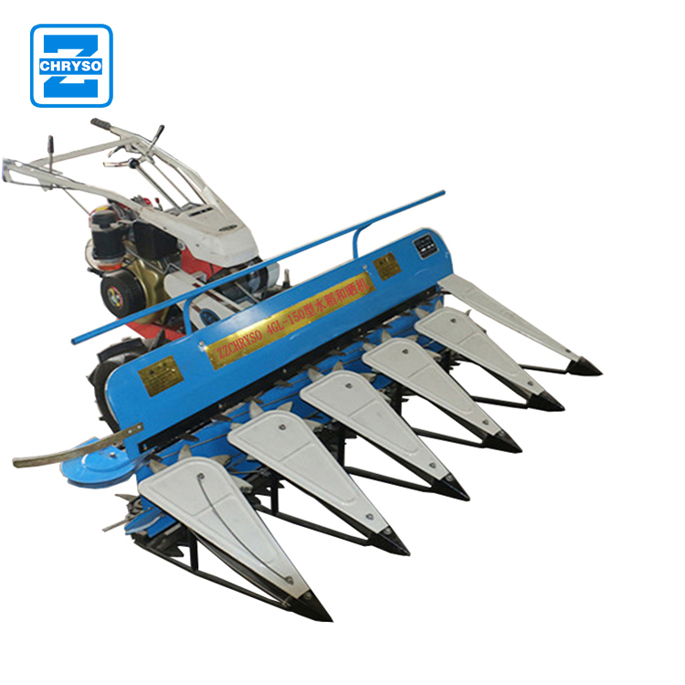 Mini rice crop cutting machine paddy reaper / wheat reaper binder machine