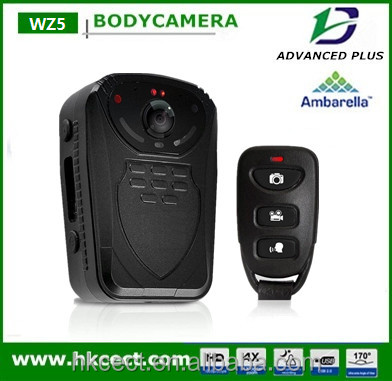 Waterproof/Weatherproof Special Features GPS no screen remote control police video body worn camera