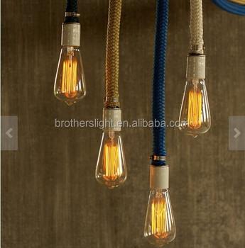 Hanging Pendant Chandelier Hemp Rope For Edison Light