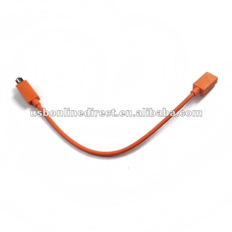 micro USB female to S3 male CABLE deep 23cm orange