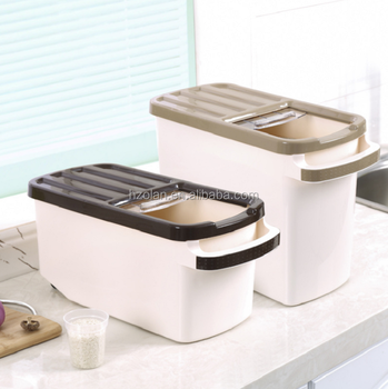 Hot Sale Eco friendly Kitchen Plastic Rice Storage Container Food