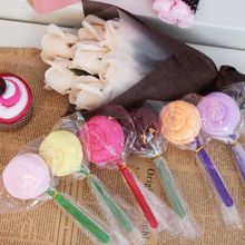 Promotional wedding, birthday, creative activities, small gifts, lollipop shaped towels