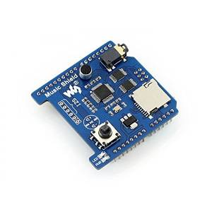 Angelelec DIY Open Sources Sensors, Music Shield, VS1053B Audio Play/Record, Arduino Expansion Board for Playing/Recording Audio, Features Onboard Audio Codec Chip VS1053B and a TF Card Slot.