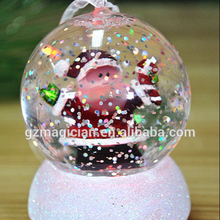 battery operated white christmas tree glitter light ornaments water filled snow globe