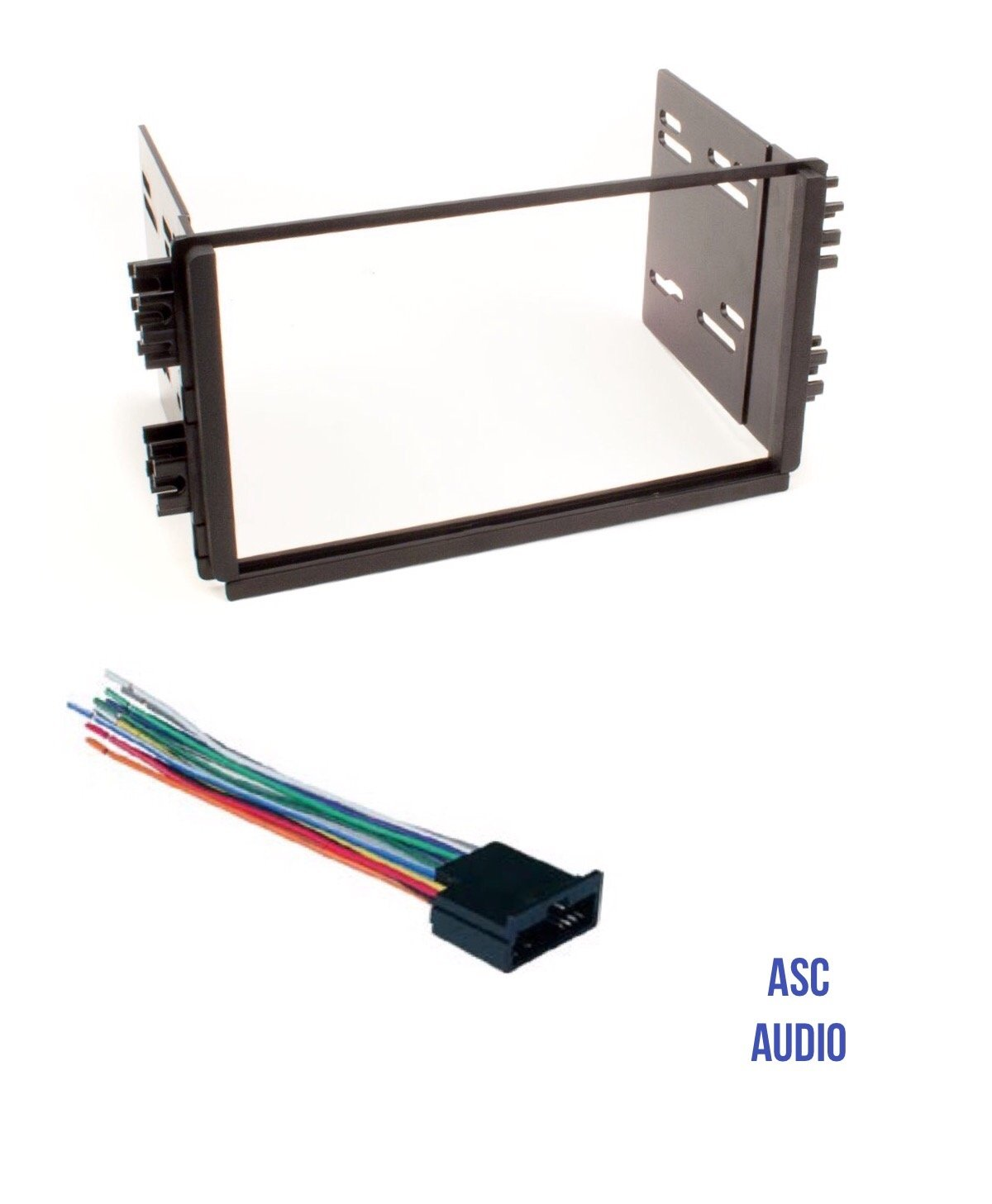 Get Quotations · ASC Audio Car Stereo Radio Dash Kit and Wire Harness for  installing a Double Din Radio