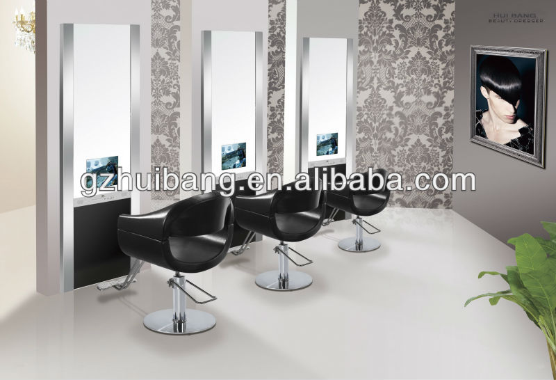 salon de coiffure miroir station station de style avec tv hb b384 autres meubles en verre id de. Black Bedroom Furniture Sets. Home Design Ideas