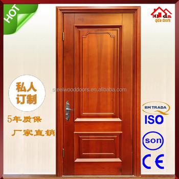 New design room single teak wood main door designs buy for Main door designs single door