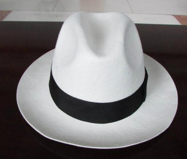 2bf2b2713ba 2019 Wholesale White Trilby Hat Pure Wool Felt Fedora Hats For Women ...