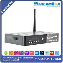 Free shipping DVB S2 T2 C PowerVU CCcam Biss Key H.265 Hi3796 4K Digital HD Combo Android Satellite Receiver