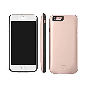 FILIWI iPhone6 Battery Case-Half Pack 2600mah Battery Backup External Charger Case Cell Phone Cover for iPhone6/6s Battery Case Silicon (Rose Gold)
