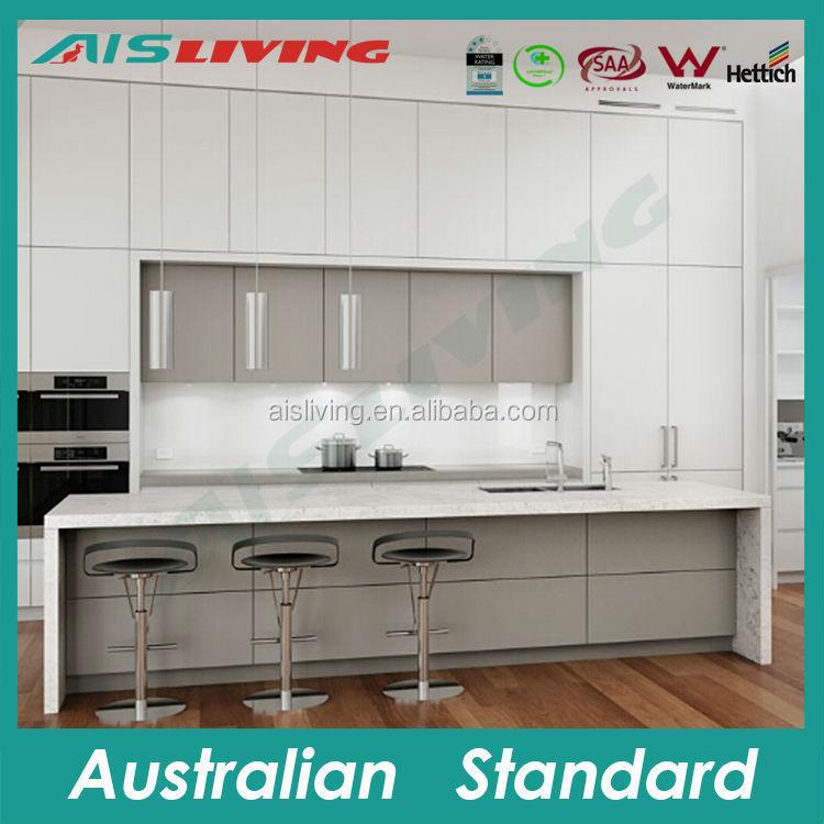 AIS_K1083 opslag keukenkast deur rekken witte laminaat ...