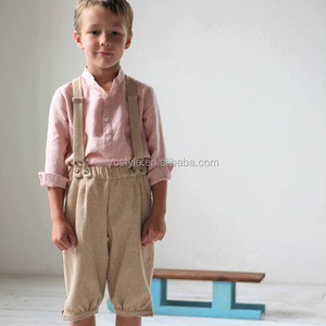 Baby boys vintage style suspender shorts- ring bearer outfit for summer