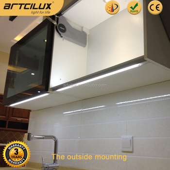 12V Handle-free dimmable led under cabinet light recessed mount