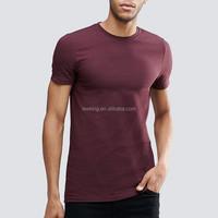 Wholesale Slim Fit Gym 95% Cotton 5% Spandex Mens t shirts