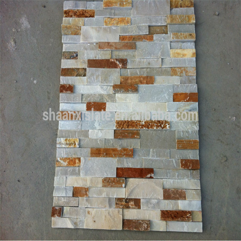 Chinese rusty culture stone slate veneer wall decaration