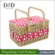 Handmade colorful dot printed fabric craft storage baskets wholesale with handle