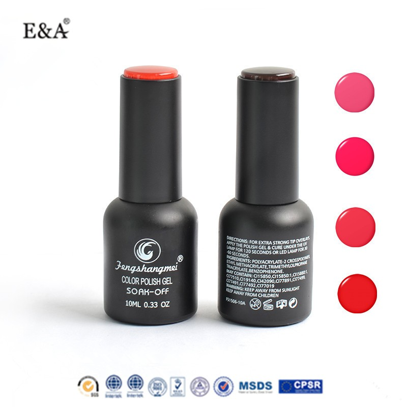EA brand 10 ml new global fashion soak off uv/led bling color nail gel polish