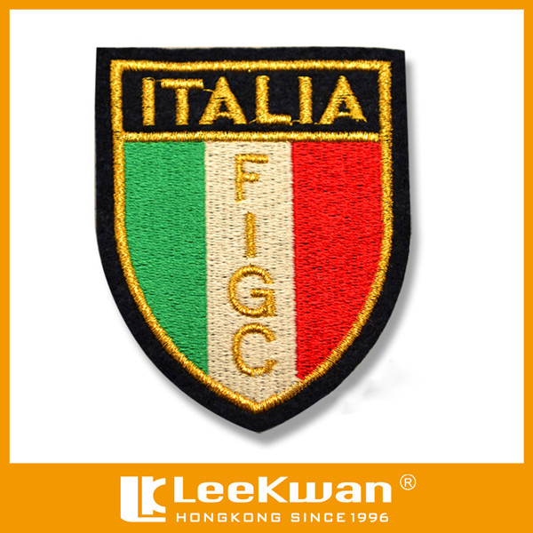 Italia Flag Design Embroidery Patch