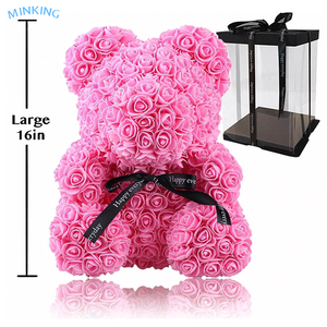 Rose Bear Flower Rose Teddy Bear Handmade Foam Roes Bear for Girlfriend Love Gift