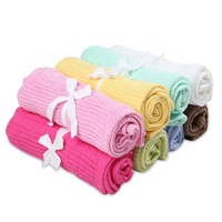 Wholesale baby cover infant quilt soft baby cellular blanket