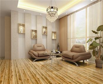 Prezzo a buon mercato smaltato pavimento di piastrelle lucido wood