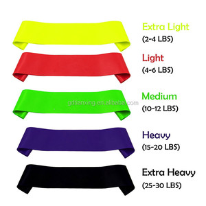 colorful rubber elastic resistance loop exercise 5 bands , loop resistance bands