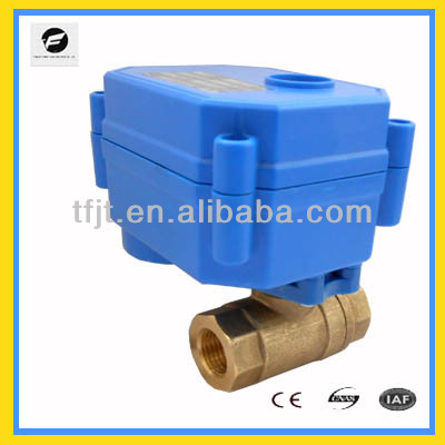 DN8 electronic actuator ball valve for Air compressor auto drain