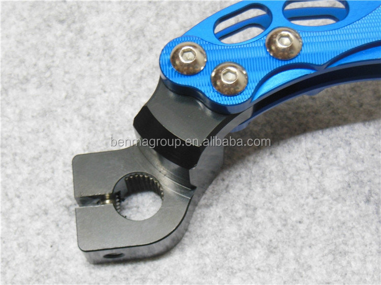Modify CNC scooter kickstand for 100cc JOG RSZ100 kick start