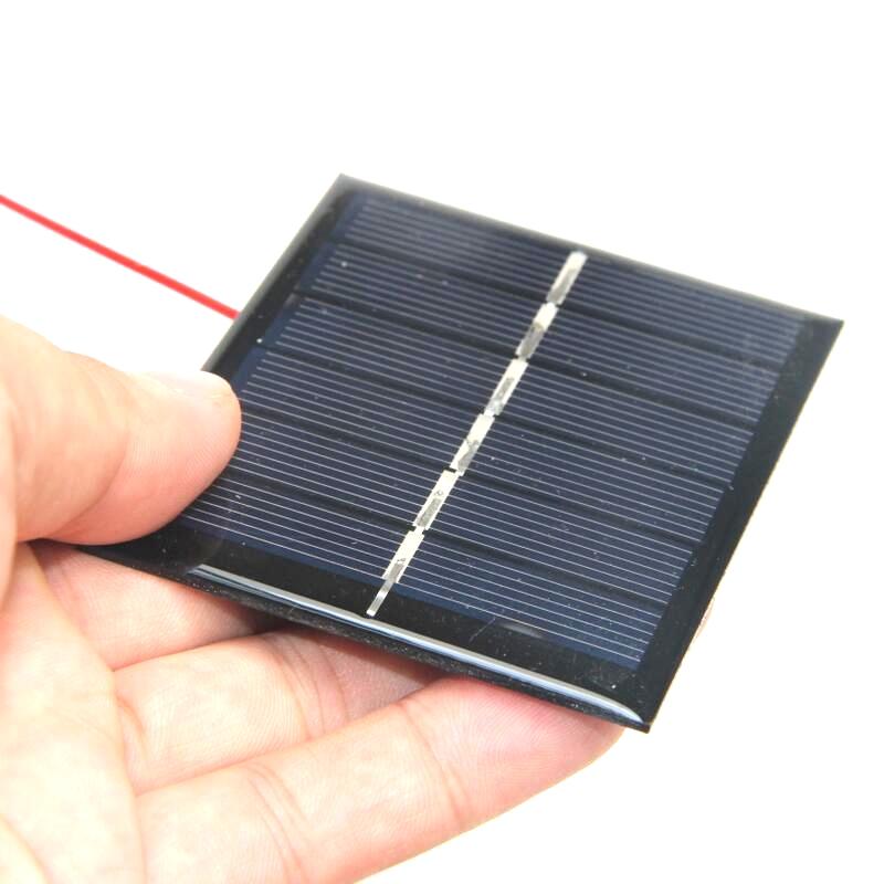 3 V Mini Célula Solar DIY Carregador