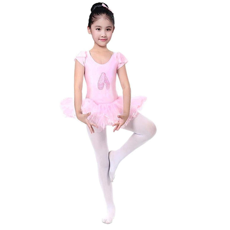 941b663d9 Get Quotations · Minisoya Toddler Baby Girls Gauze Leotards Bodysuit Tutu  Dress Rhinestone Ballet Dancewear Dress Costume Outfits