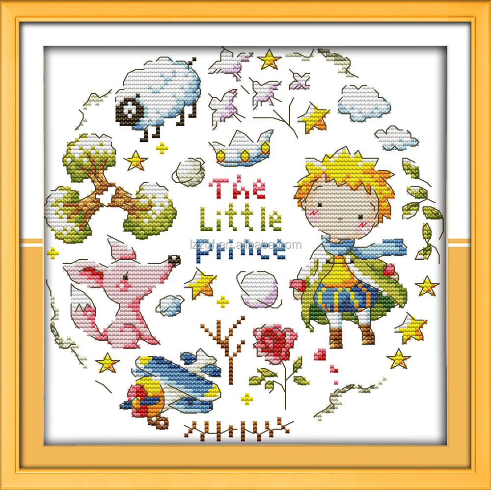 El Pequeño Príncipe estilo de dibujos animados contra diy patrones ...