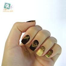 The new second generation water shifting makeup mysterious fantasy pattern black nail polish nail stickers K5633