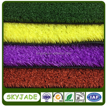 Colored Turf Carpet Artificial Grass For Indoor Decoration - Buy ...