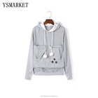 New Cartoon Hooded Hoodies Lover Cats Kangaroo Dog Hoodie Long Sleeve Sweatshirt Front Pocket Casual Animal Ear Hoodie 4xl