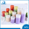 5*10cm pure wax Cylindrical candle Customized Eco Friendly Ivory Pillar Candles
