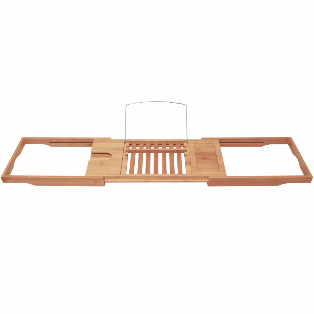 Bamboo Bathtub Caddy With Extending