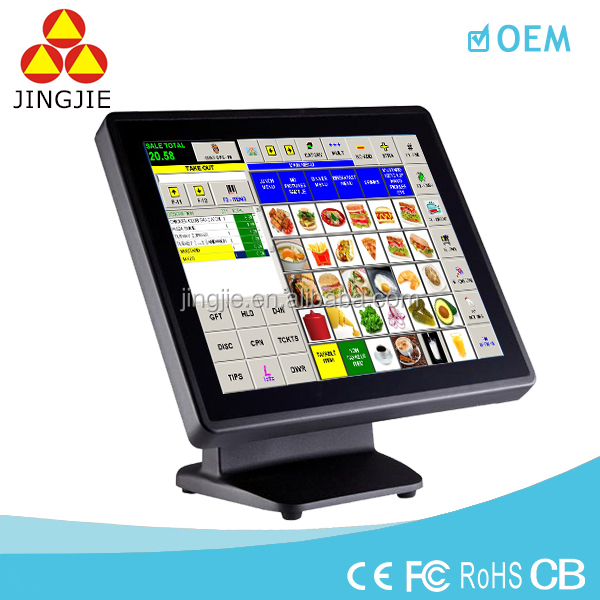 POS Manufacturer for 15'' All in one Touch Gas Station Cash Register and Retail Supermarket