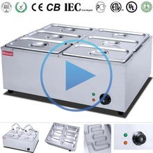 2017 Best Selling Commercial stainless steel buffet gas electric bain marie