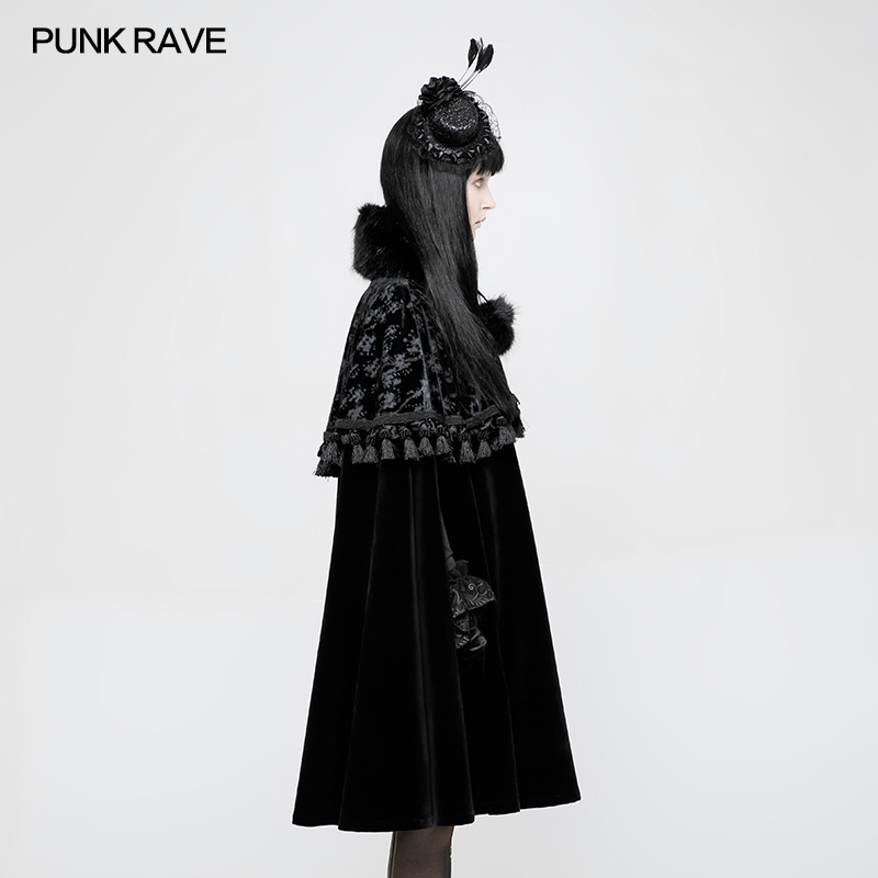 WLY-076 Vintage clothing PUNK RAVE lolita Style hooded cosplay cape cloak Coat