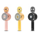 Mobile Phone SD Card Karaoke Bluetooth Microphone with LED Light FM Support Selfie USB TF Card Record Songs and Earphone