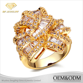 2017 new arrival jewelry dubai design la s finger ring 2 gram