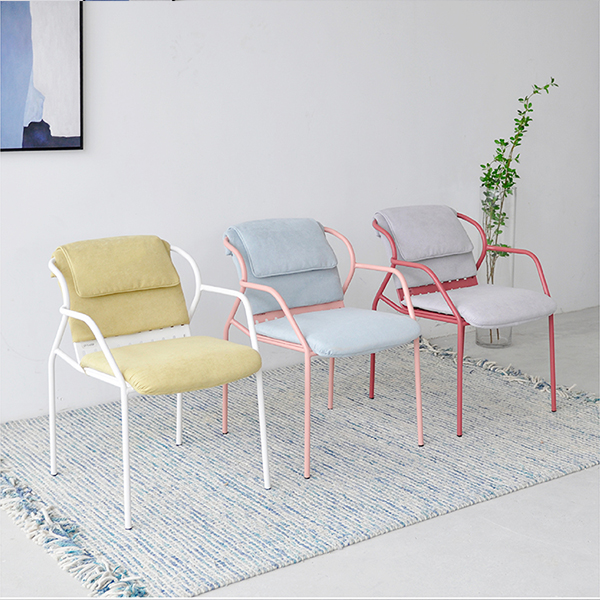 New furniture can stack metal dining chairs