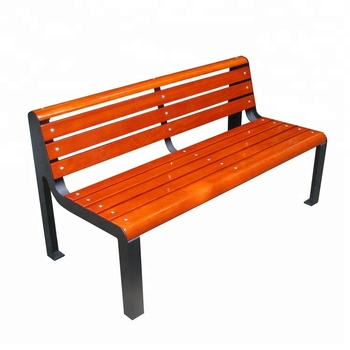Modern Outdoor Bench With Camphor Solid Wood Slat Seat