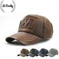 Free shipping to keep warm high grade leather mature men of letters baseball cap leisure outdoor