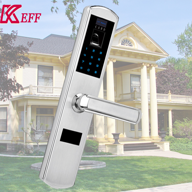 Outdoor hotel door lock electronic rfid smart cards with 68mm mortise
