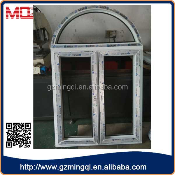 cheap pvc glass window double glass white upvc casement window and door