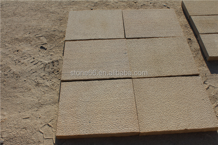 Natural man-made edge yellow sand stone paving