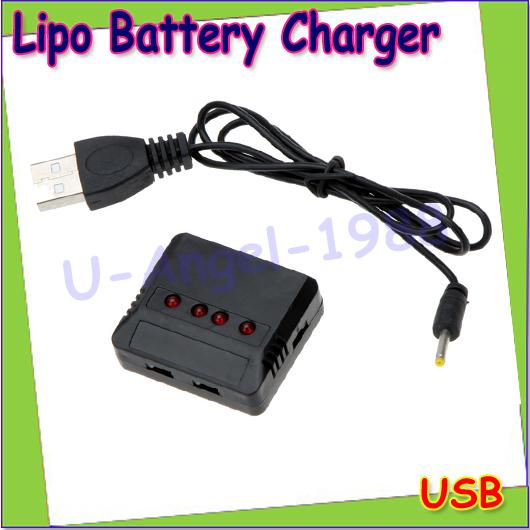 Wholesale 1pcs Mini 4 Port 5 port Lipo Battery USB Charger for Hubsan H107/Wltoys/Syma X5C/UDI U816 UFO Quadcopter Helicopter