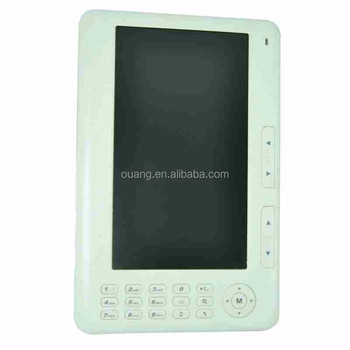 7 inch button e-book with 800*600 resolution,Ucos solution,TFT screen,support WIFI E-ink E-BOOK711