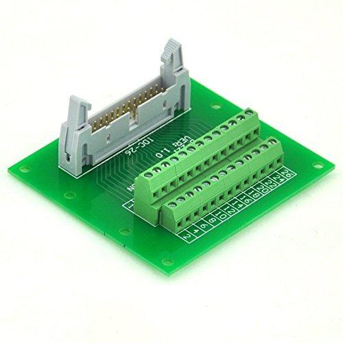 "Electronics-Salon IDC26 2x13 Pins 0.1"" Male Header Breakout Board, Terminal Block, Connector."